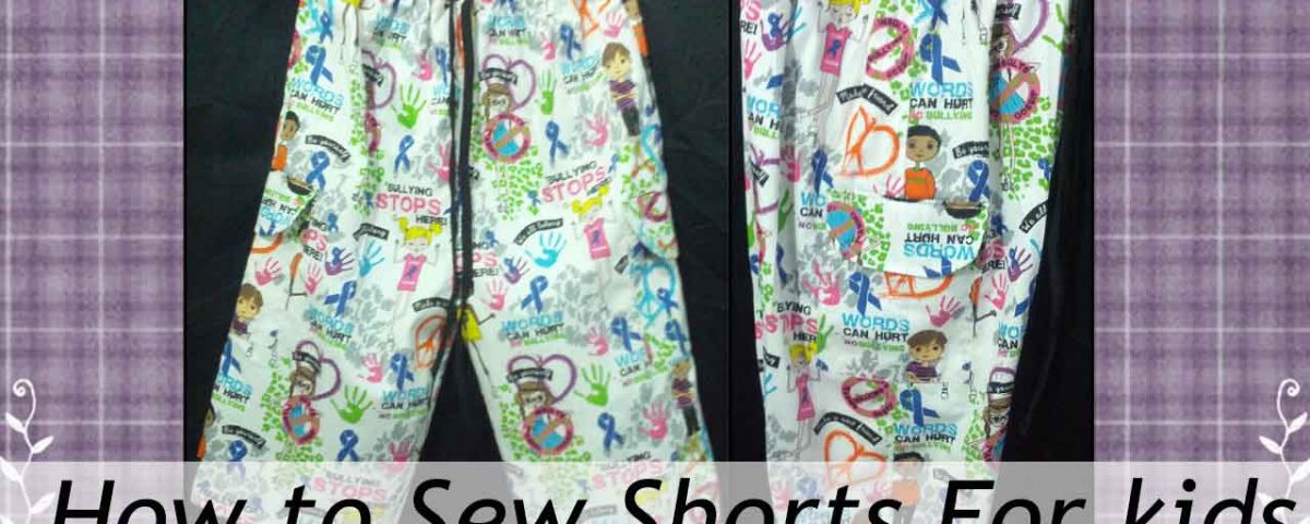 Sew Shorts for kids with Pattern