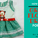 MAKE GREEN FLORAL DRESS FOR KIDS