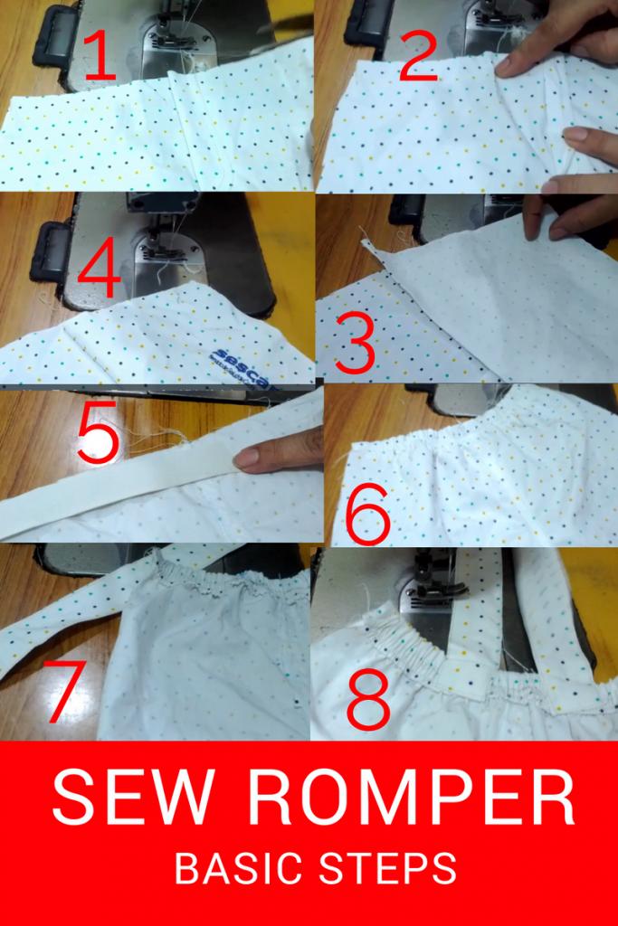 SEW ROMPER - BASIC SEWING STEPS