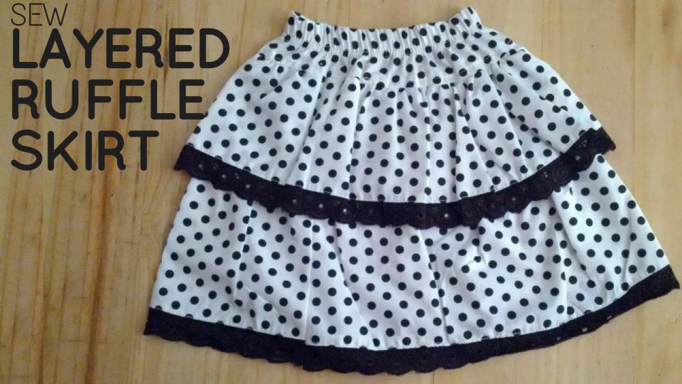 Sew Layered Ruffled Skirt
