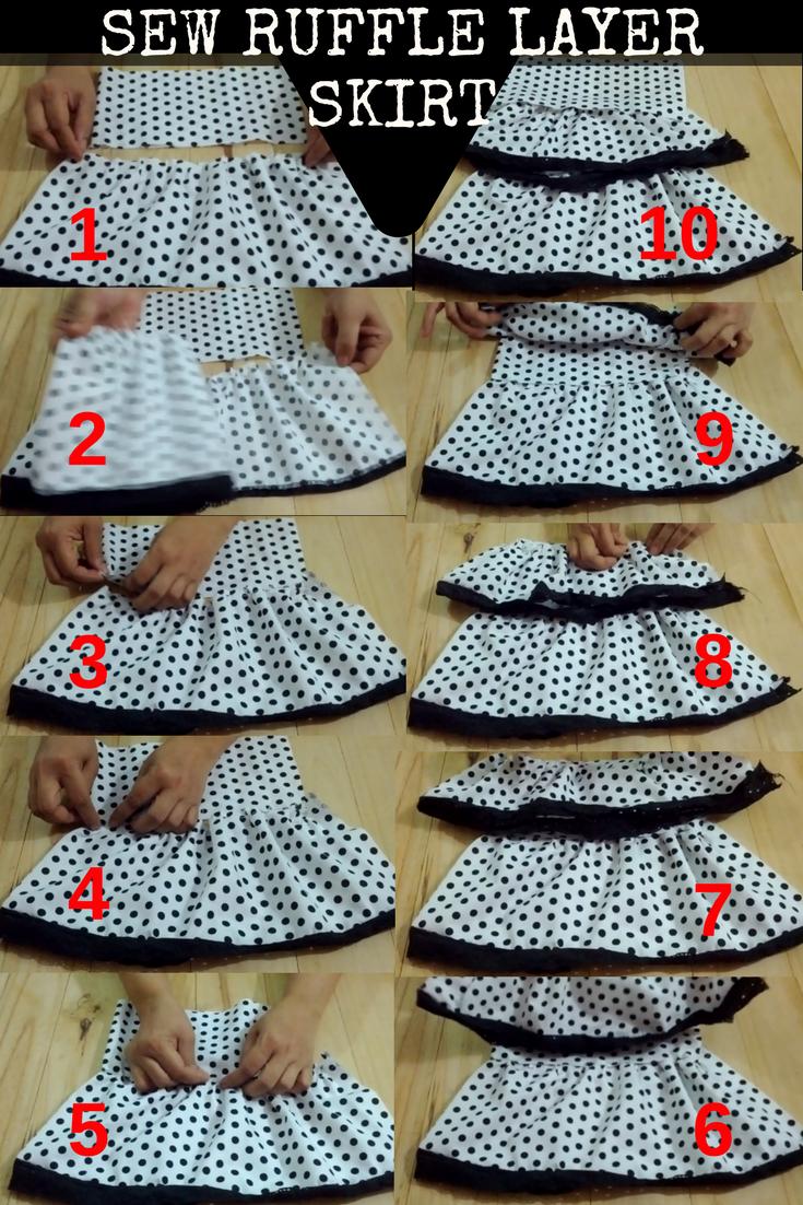 Sew Layered Ruffled Skirt- Basic Sewing Steps