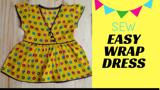 Sew Easy Wrap Dress with Pattern - DressCrafts