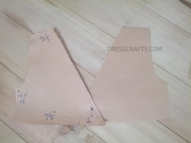 Wrap dress - front bodice Pattern