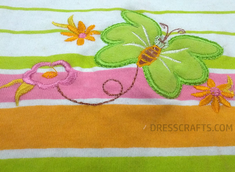 butter fly floral Emroidery