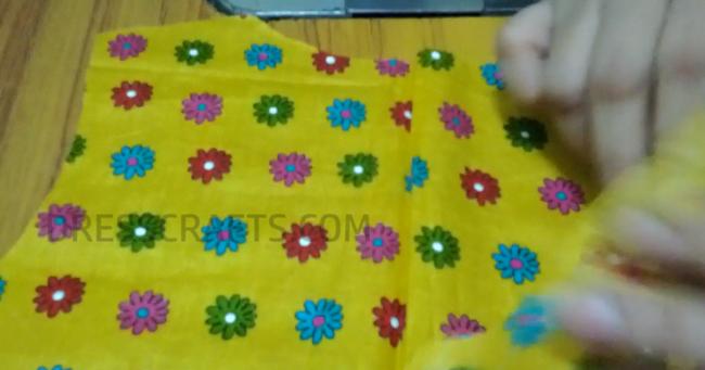 wrap dress - step1