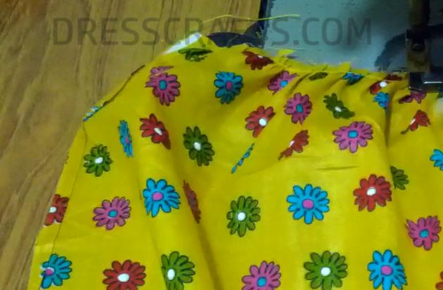 wrap dress - step11