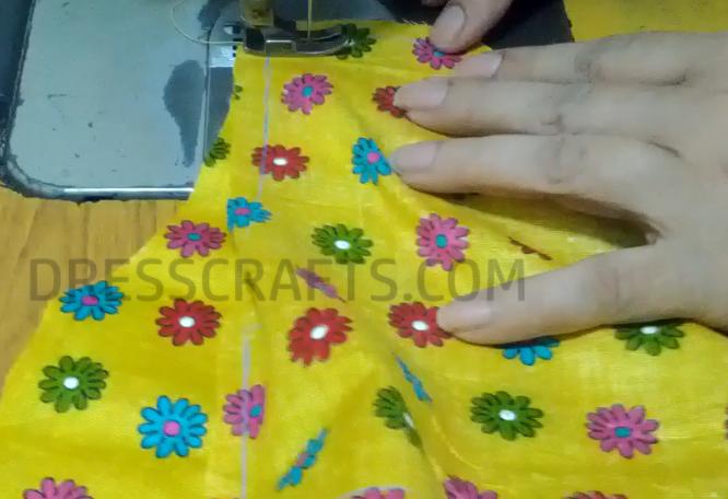 wrap dress - step2