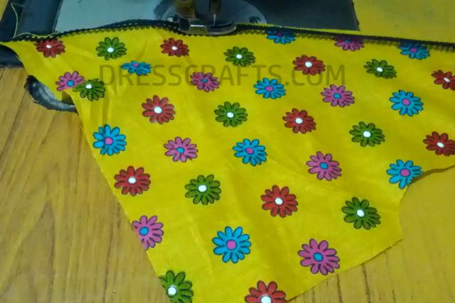 wrap dress - step5