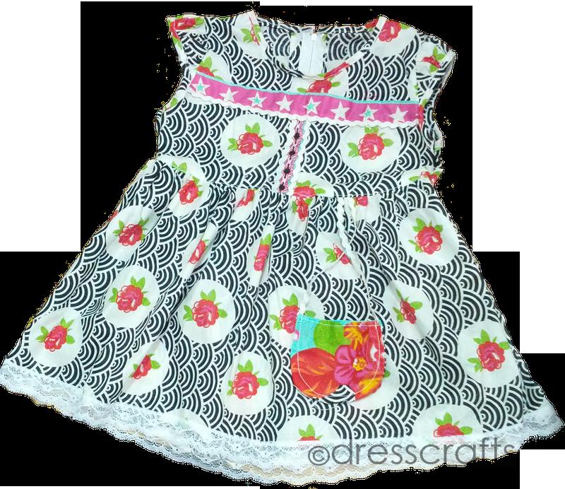 SIMPLE BABY DRESS DESIGN