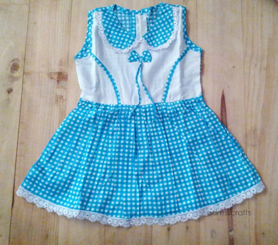 SIMPLE BABY DRESS IN GINGHAM FABRIC
