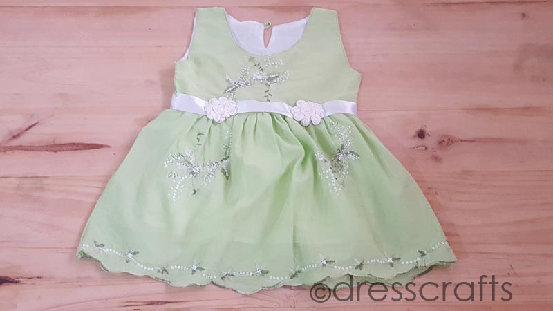 SIMPLE BABY DRESS WITH CUTWORK