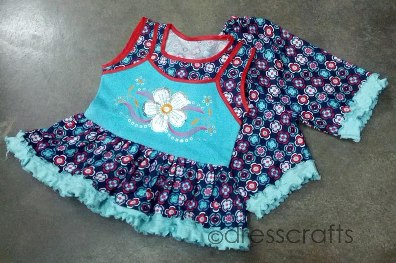 SIMPLE BABY DRESS WITH FLOWER EMBROIDERY