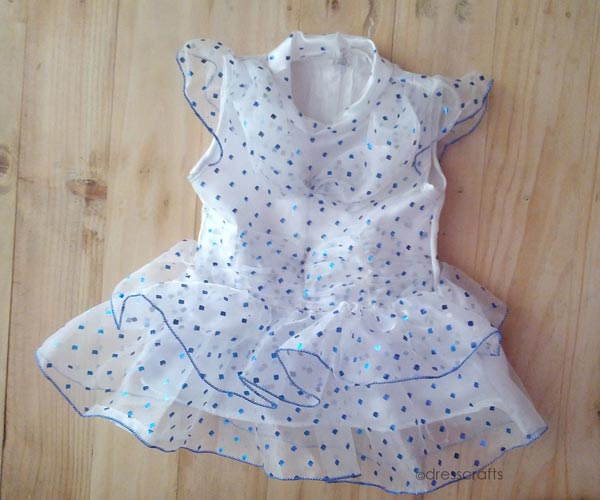 SIMPLE BABY DRESS WITH PUFF SLEEEVES