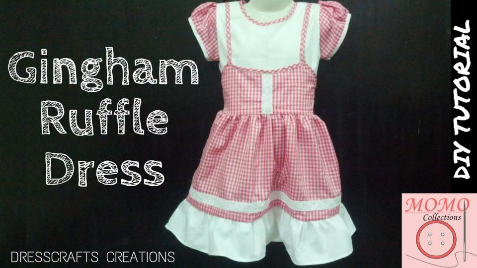 Sew Gingham Ruffle Dress