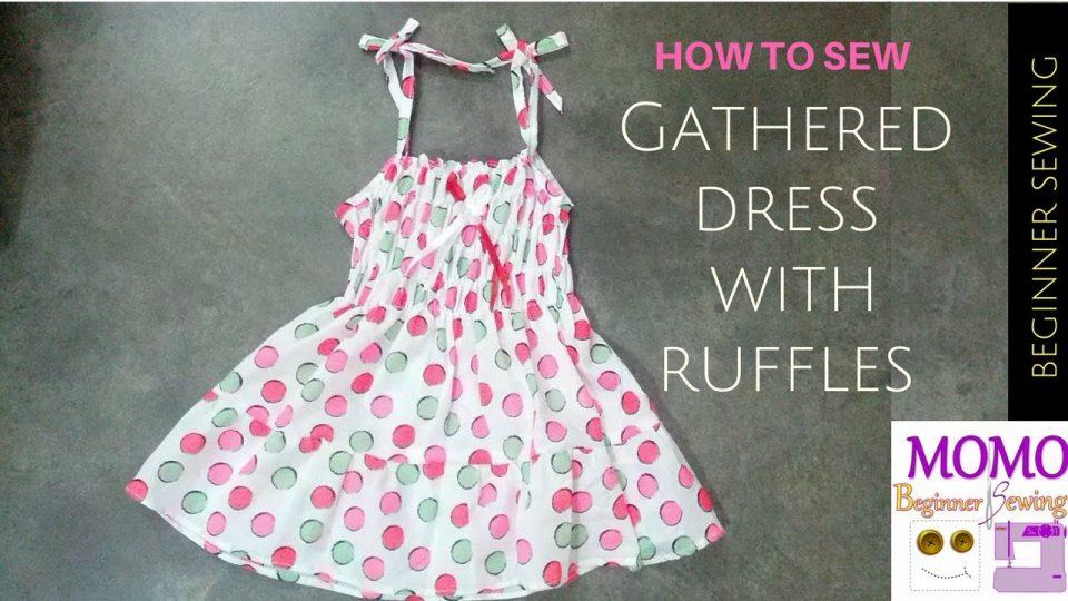 Sew gathered dress with ruffles