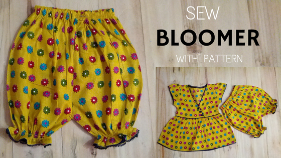 sew bloomer with pattern