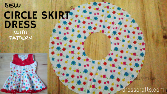 Sew Circle Skirt Dress with Pattern by Dresscrafts