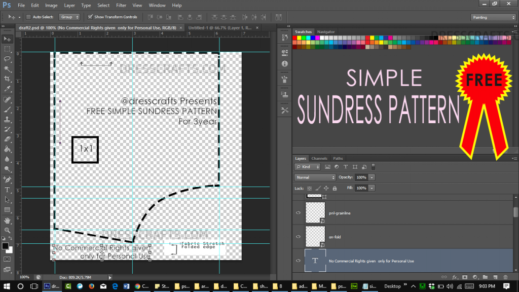 Digital sundress Pattern