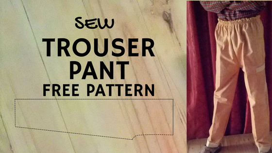 Trouser Pant Free Pattern by Dresscrafts