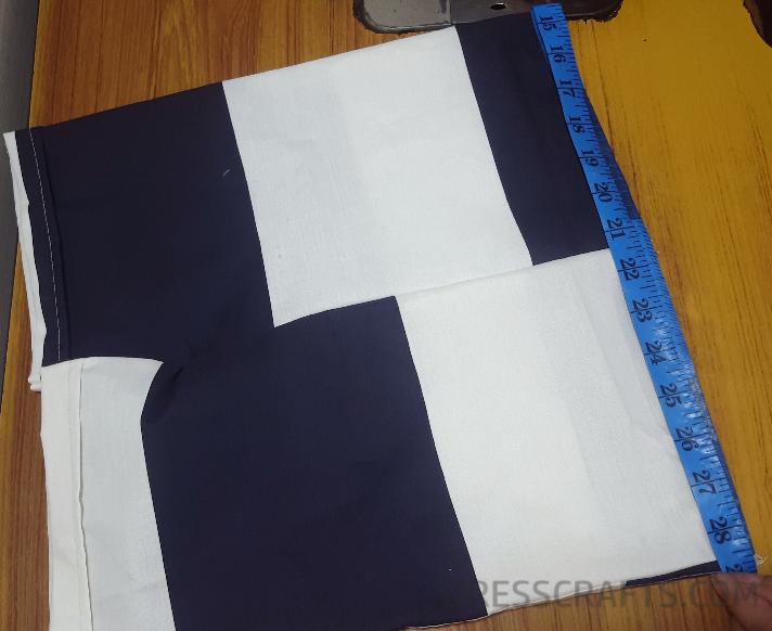 Elastic waistband step 1