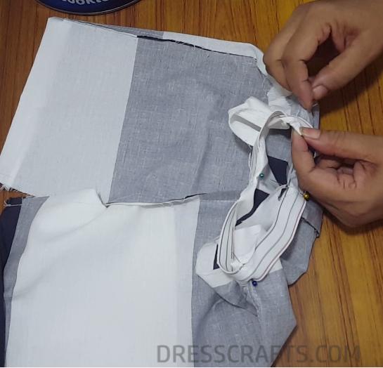 Elastic waistband step 10