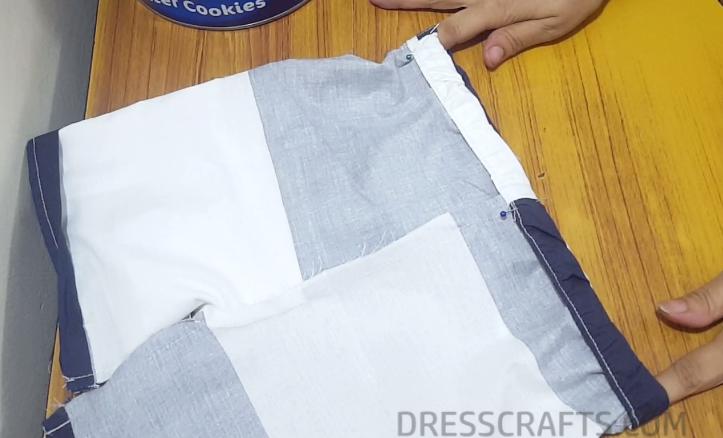 Elastic waistband step 16