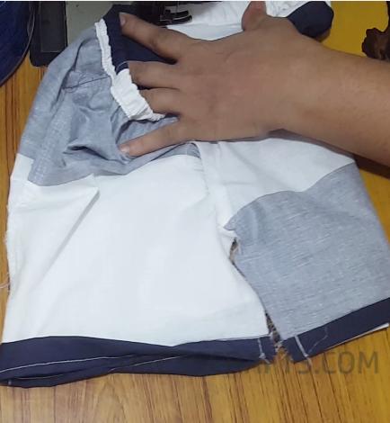 Elastic waistband step 21