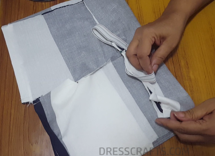 Elastic waistband step 8