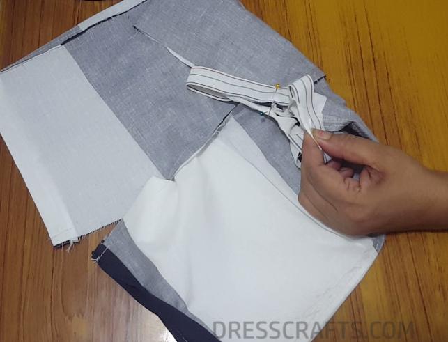 Elastic waistband step 9