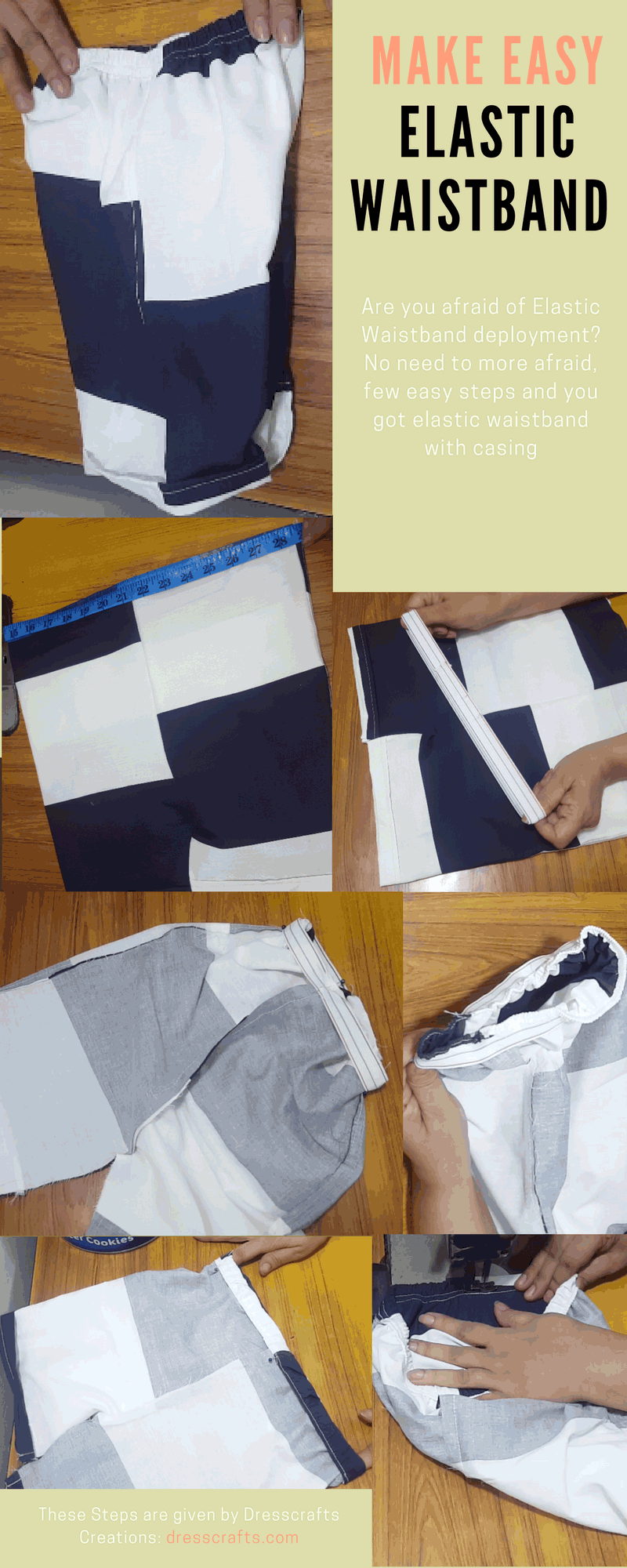 Making of an Elastic Waistband