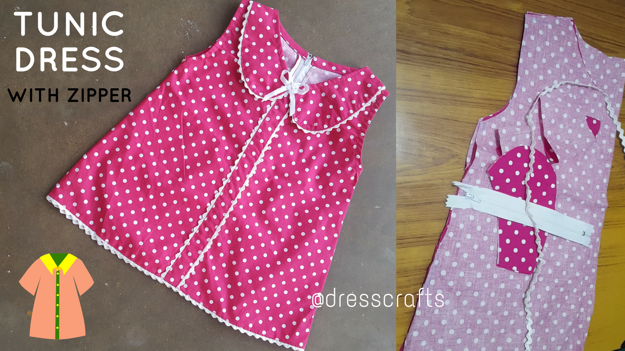 Sew Tunic Dress with Zipper
