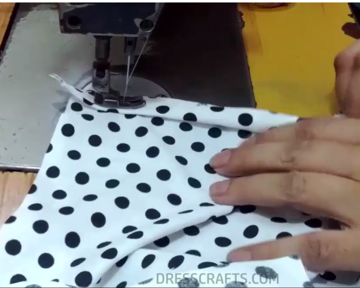 Pillowcase Dress sewing step 9