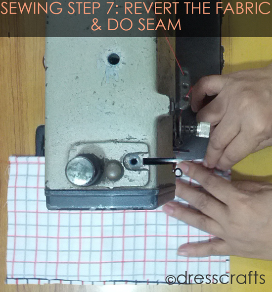 French Seam Sewing Step-7