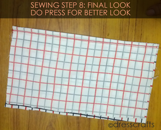 French Seam Sewing Step-8