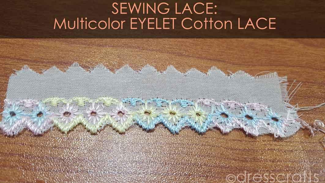 Multicolor Eyelet cotton Lace