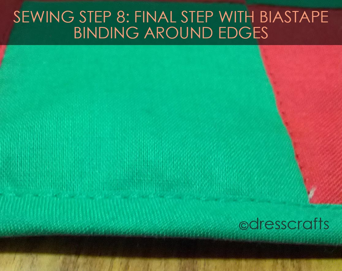 PLACEMATS SEWING STEP 8