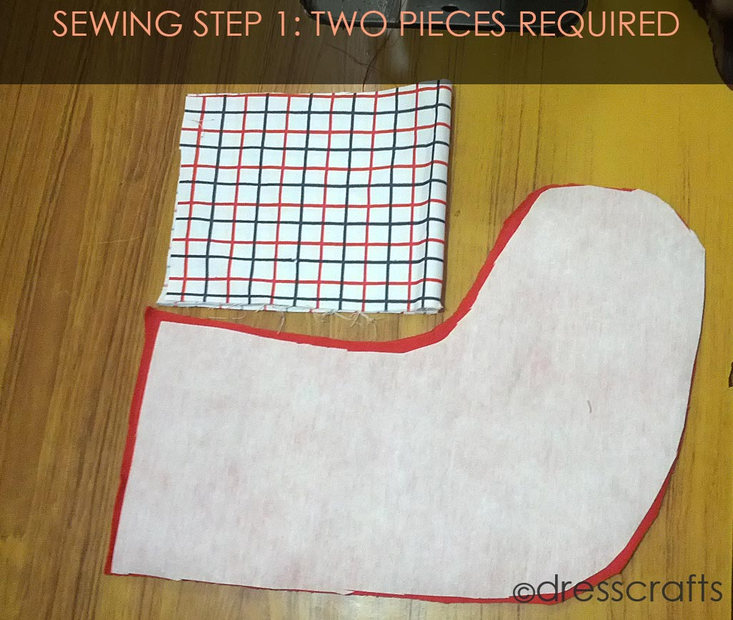 STOCKING SEWING STEP 1
