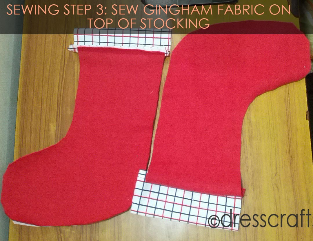 STOCKING SEWING STEP 3