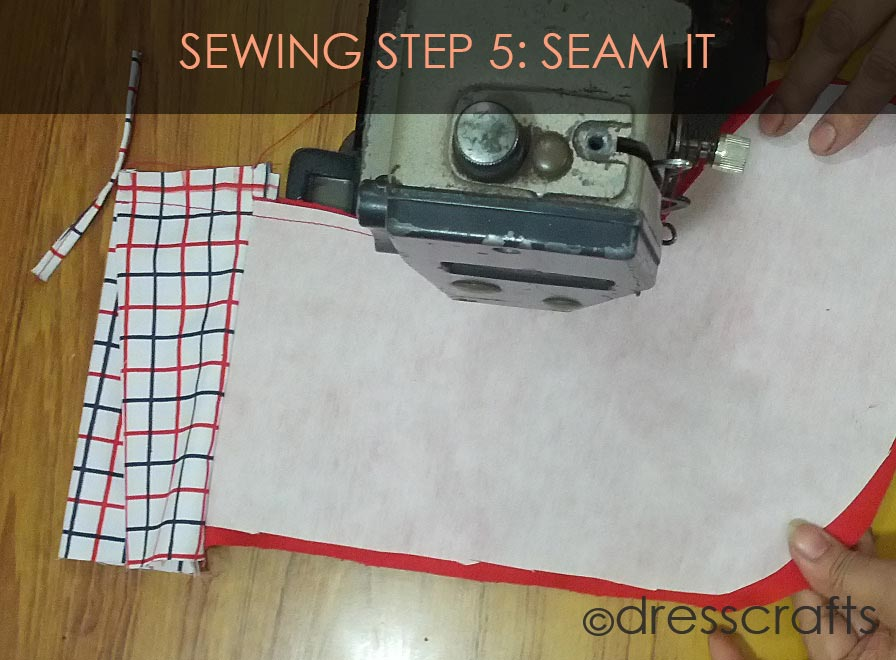 STOCKING SEWING STEP 5
