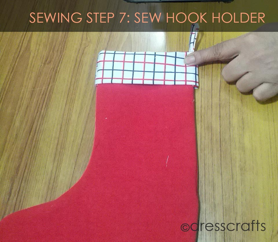 STOCKING SEWING STEP 7