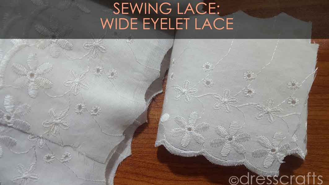 Wide Eyelet lace