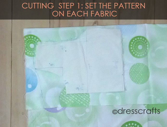 Cutting Steps 1 Fabric setting
