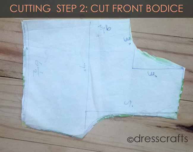 Cutting Steps 2 Front bodice
