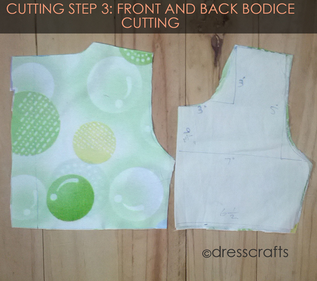 Cutting Steps 3 Front AND Back bodice