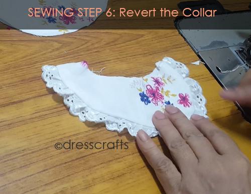PETER PAN COLLAR SEWING STEP 6