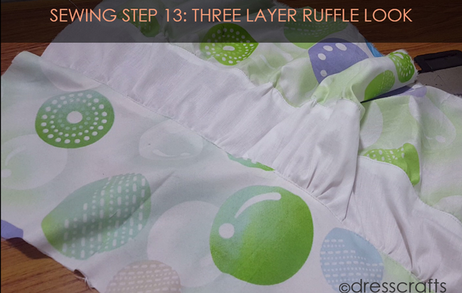 SEWING STEPS 13 - sewing skirt - three layer look