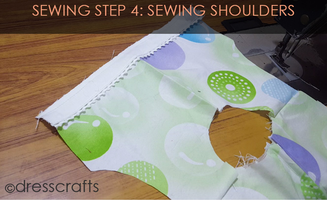 SEWING STEPS 4 - Sewing shoulders