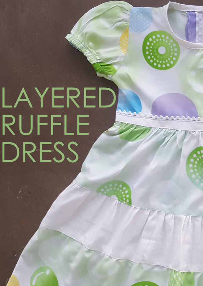 Sewing Layered ruffle dress