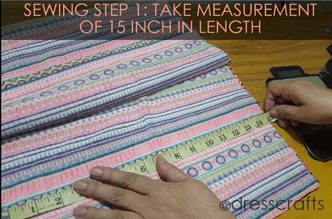 Simple Skirt Sewing Step 1