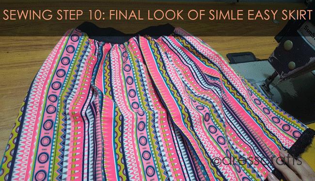 Simple Skirt Sewing Step 10